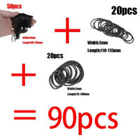 90pcs Universal Mix Cassette Rubber Drive Belt For Tape Machine Common New #JP