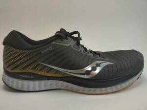 Saucony Mens Guide 13 Running Shoes Gray Yellow S20548-45 Lace Up Low Top M
