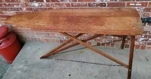 """Antique Vintage Wooden Ironing Board Folding Table Primitive 54x14.5"""""""