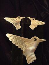 J.J.1988 Western Bird Pin & Earrings Set (283)