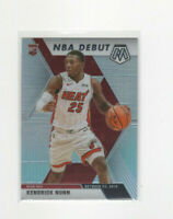 2019/20 Mosaic NBA Debut Silver Prizm Kendrick Nunn Rookie Parallel Card #268
