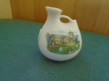 ST MICHAELS CHURCH BLEWBURY BERKS PICTURE - VASE - FLORENTINE CRESTED CHINA