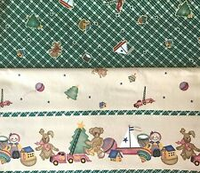 NEW Daisy Kingdom Elegant Pillow Bears Border 100/% Cotton Sold By 1//2  Yard