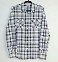 Jeanswest Men's Long Sleeve Purple Check Shirt Size S