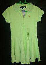 Ralph Lauren Polo Girls Beautiful Spring / Summer Oasis Green Brand Dress 4 yrs
