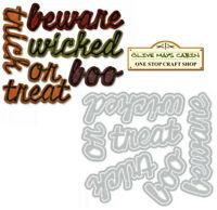 Tim Holtz Shadow Script Halloween Die Set  ::  Sizzix Thinlits Dies beware boo