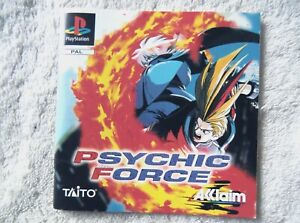 74360 Instruction Booklet - Psychic Force - Sony PS1 Playstation 1 (1997) SLES 0
