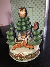 G. DeBrekht Bambi's First Winter MUSICAL FIGURINE Magic of Disney Limited Edtn