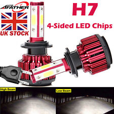 2018 New 4-Sided H7 LED Headlight Car Bulbs 300W 36000LM High or Low Beam Bright