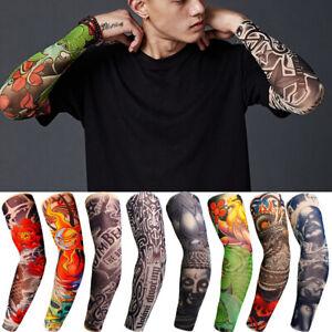 Nylon Fake Body Art full Arm Temporary Stretchy TATTOO SLEEVE : 10 Designs