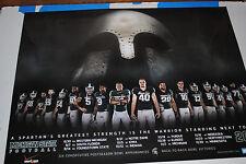 2013 Michigan State Spartans football poster MSU Dantonio 2014 ROSE BOWL Champs