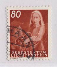 LIECHTENSTEIN - 1951 AGRICULTURE SERIES 80Rp MiNr.298 Oblitéré / Used