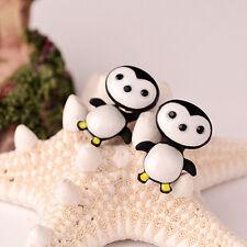 Jewelry Alloy Polymer Clay Earring 3D Animal Penguin Stud Earrings Handmade