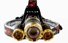 High Power 3 Headlamp Zoomable For Camping Fishing Hiking Night Working Light AU