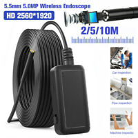 10M 5MP WIFI LED Borescope Endoscope Inspection Camera For iPhone Android iOS