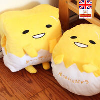 Cushion Gudetama Lazy Egg Plush Pillow Hand Warmer Cute Soft Blanket Toys Gifts