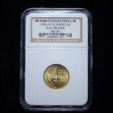 1996-W Olympics $5 Gold Flag Bearer NGC MS70 (us vault collection) (slx3682)