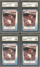LOT OF (4)  1989 Fleer #3 Sticker Michael Jordan MJ 23 45 ALL GRADED GEM MINT 10