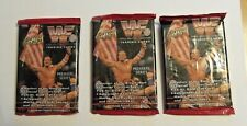 (3) 1994 ACTION PACKED WRESTLING PACKS - WWF WWE  PREMIERE SERIES