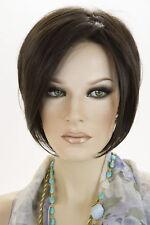 Dark Brown Brunette Short Lace Front Jon Renau Straight Wigs