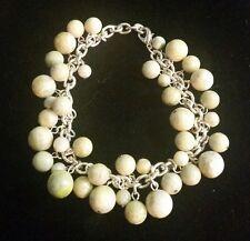 Round Drop Balls *Pretty Dangles* Connemara Marble Jewelry Dangle Bracelet With
