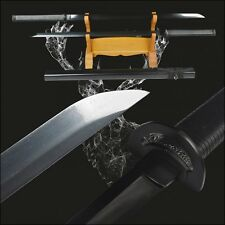 Japanese ninja swords katana full tang high carbon steel electroplated black