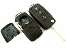 VW Golf Jetta Passat Polo 3 Button Flip Remote Key Fob Case (Blank HAA Blade)