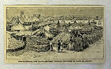 1887 magazine engraving ~ SLAVE DEALERS' CAPITAL, Bahr-El-Ghazel