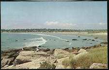 NEWPORT RI Easton's Beach Surf People Vtg Postcard