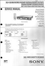 Sony Original Service Manual für VHS Video SLV-E 820/870/920