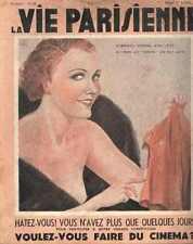 LA VIE PARISIENNE 34 curiosa ART DECO LEONNEC LISSAC ZALIOUK SACHA magazine rhum