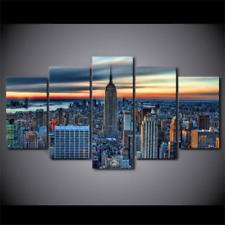 New York City Skyline 5 Pieces canvas Wall Art Print Picture Home Decor