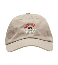 ANY MEMES LEVEL UP DAD HAT STRAPBACK CAP CURVED BILL EMBROIDERED BEIGE UNISEX