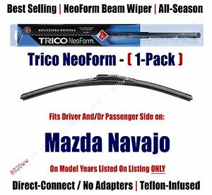Super Premium NeoForm Wiper Blade (Qty 1) fits 1991-94 Mazda Navajo 16180