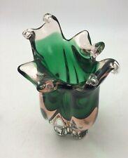 Vintage Glassworks Chribska Vase par Josef Hospodka Czech Boheme h 20 cm 1,9 kg