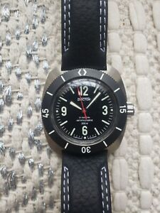 Vostok Amphibian SE 710555L Custom Watch New Lume Black Diver 200m Automatic