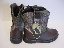 Size 9 Mossy Oak Infant/Toddler Boys/Girls Camo Cowboy/Casual Boots/Shoes