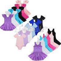 Girls Gymnastic Ballet Dress Leotard Princess Tutu Skirt Dancewear Fancy Costume