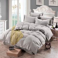 Luxury 1pc Duvet Quilt Cover Bedding Set Single Double Queen King Size Cotton.