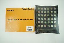 "Vintage MIDAS Leather Stamps Alphabet & Numbers Set Sealed 1/4"" 8137 - A21"