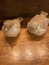Vintage Homco Porcelain Tan/Cream Bird/Sparrow Figurines