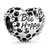 Bee Happy Waben-Herz PANDORA Charm 798769C00