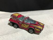 Vintage 1980 Kenner #1027 Fast 111s 6 Wheeled Futuristic Toy Car Red