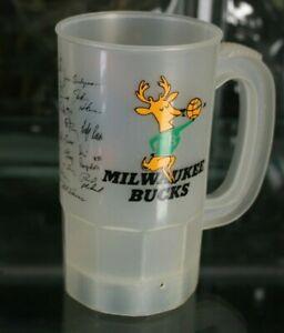Milwaukee Bucks Printed Team Signature Mug NBA Old Style Beer