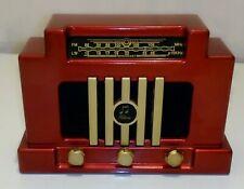 RADIO RETRO EN PLASTIQUE ROUGE