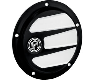 PM Contrast Cut 5-Hole Scallop Derby Cover Harley Davidson Twin Cam 1999-2015