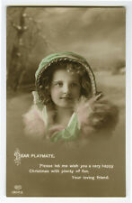 c 1914 Children Chld Kid PRETTY LITTLE GIRL British photo postcard