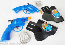 2X Toy Guns Military Detective Dual Snub-nosed Revolver Toy Pistol w/ Holster