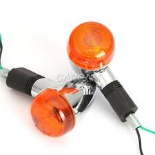 4PCS Motorcycle Black Turn Signals Indicators Amber Lights Lamps Blinkers 10mm