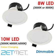 White 8W 10W LED Dimmable IP44 Outdoor Soffit Spotlight Downlight Light Fitting